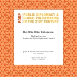 The 2012 Qatar Colloquium: Findings From the Student-led Public Diplomacy Program