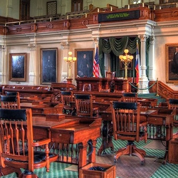 The 2019 Texas Senate, from left to right