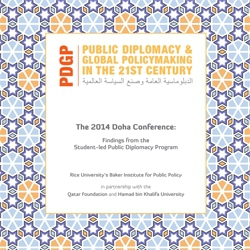 The 2014 Doha Conference: Findings from the Student-led Public Diplomacy Program.