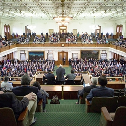 The 2015 Texas senate, from left to right.