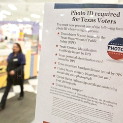 Texas I.D. law kept voters from polls .