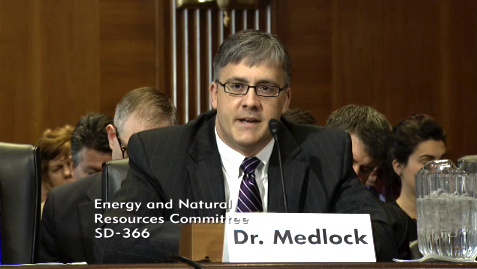 Ken Medlock testifies before Energy and Natural Resources Committee